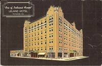 Richmond, INDIANA - Leland Hotel - ADVERTISING -  LINEN