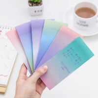Rainbow Colorful Sticky Notes Cartoon Writing Student Study Paper Memo Pad