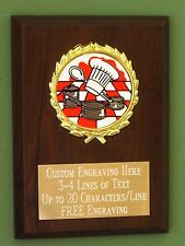 Cook-off/Bake-off/Chef/Restaurant Award Plaque 4x6 Trophy FREE engraving