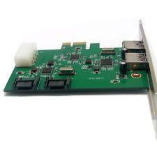 Combo usb 3.0 + sata III 6 Gbits/s, v2.0 pci express, x1 slot carte contrôleur
