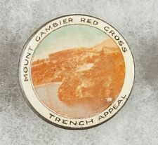 World War 1 Australia Mount Gambier Red Cross Trench Appeal Pinback Button Badge