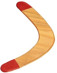 """Solid Wood Boomerang, Red-Tip 17.5"""" Outdoor Easy Catch"""