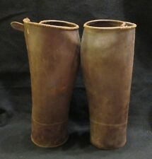 German WWII WW2 Brown Leather Puttees Gaiters Political SA WWII