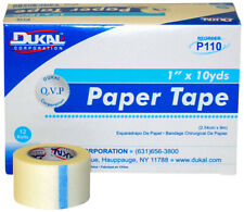 "12 Rls Dynarex Adhesive Surgical Paper Tapes #3552 Latex-Free 1"" x 10 Yds Ms1536"