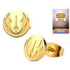 Oficial Acero Inoxidable Chapado En Oro Orden Jedi Símbolo Pendientes De Presión