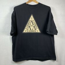 Revenge Of The Nerds Tri Lambda XL Black T Shirt 2002 Junk Food Tag