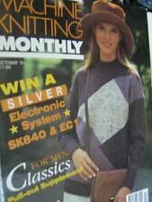 Machine Knitting Monthly October 1991 Magazine- Men Fairisle Special, Halloween