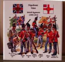 Napoleon Napoleonic wars British Regiments Ceramic TILE