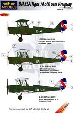 LF Models Decals 1/72 DE HAVILLAND D.H.82A TIGER MOTH Over Uruguay