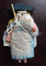 "Miniature Vintage Cloth Mexico Girl Doll 2 1/2"" Tall"
