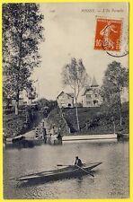 cpa 78 - POISSY L' ILE PERNELLE Animée Barque Lavandière VILLAS à Louer ND Phot.