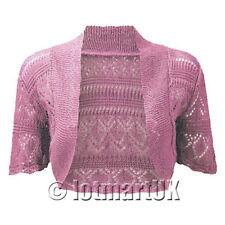 Cardigan Ladies Bolero Shrug Crochet Knitted Top In Plus Size 12/14,16w/18w