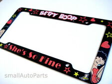 **NEW** AUTO BETTY BOOP LICENSE PLATE TAG FRAME car*truck*suv* Custom black/red