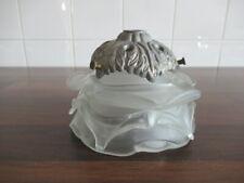 Ancienne tulipe de lampe art déco en pâte de verre
