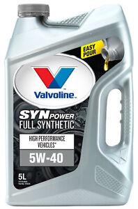 Valvoline Full Synthetic SynPower Engine Oil 5W-40 5L 1155.05 fits Chrysler C...