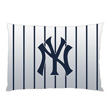"""NEW YORK YANKEES Zippered Pillow Case 16""""x 24"""" - 2 Sides Cushion Cover #X"""