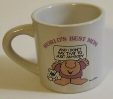Vintage 1983 Ziggy Cerramic Mug Stoneware Worlds Best Mom Korea