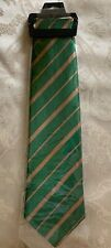 Green And Gold Striped Tie Notre Dame St Patricks Day