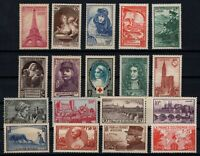 PP135354/ FRANCE STAMPS – YEARS 1938 - 1941 MINT MNH SEMI MODERN LOT – CV 137 $