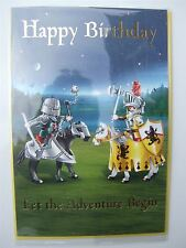 Playmobil Knights birthday card for any age by Hambledon - HLW115