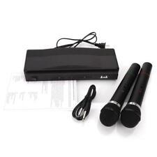 Dual Handheld 2x Cordless Mic  Karaoke Wireless Microphone System For KTV BAR
