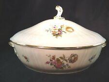 Royal Copenhagen Denmark Frijsenborg Pattern Covered Vegetable Bowl w/ Lid #1702