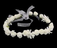 Couronne Serre Tête Fleurs Blanches Pour Mariage Soirée