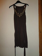 LADIES PRIMARK BROWN SLEEVELESS LONG TOP SIZE 14