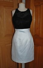 SHORT BLACK/IVORY VAL STEFANI STYLE VS9324 BEACH/RECEPTION BRIDAL GOWN SIZE 12