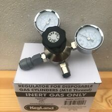 Kegland Inert Gas Nitrogen Regulator Double Gauge M10 Thread 0-140 Psi KL02158