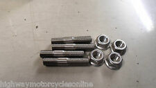 DUCATI MONSTER M 600 750 900 EXHAUST STAINLESS STEEL STUDS & NUTS