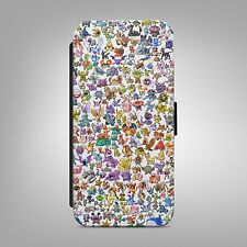 POKEMON COLOURFUL PIKACHU LEATHER FLIP WALLET PHONE CASE COVER IPHONE SAMSUNG