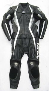 Top ARLEN NESS Lizzard Gr. 48 Zweiteiler Lederkombi schwarz weiß Leather Suit