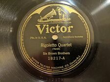 SIX BROWN BROTHERS on VICTOR 18217 Passion Dance Pre-War Jazz 78 E