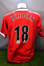 Manchester United Football Shirt Adult L Home Scholes 18 Nike 04/06