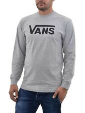 aed3091ecc VANS Classic Mens T-shirt Long Sleeve - Athletic Heather Black All Sizes  Small