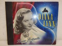 "DIANA LYNN w/Paul Weston Piano Portraits 10""/78 rpm Book-Set Capitol CC-38 EX"