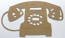 """{4}  ViNTAGE TELEPHONE - Bare Chipboard Die Cuts Embellishments - 5 1/4"""" x 3"""""""