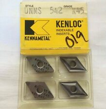 Kennametal Kenloc Indexable Dnms 542 K 45 Lathe Carbide 4 Inserts Mill Cut Off