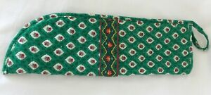 Vera Bradley Greenfield curling Flat iron cover Excellent Pre-owned