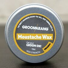 Groomarang Original Moustache Beard Wax 15ml 100 Natural Organic Vegan 4 Hair