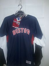 Boston Red Sox  Authentic Collection shirt MLB baseball Jersey - Navy , Youth XL