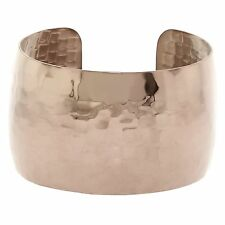 Metro Jewelry Stainless Steel Copper Color Hammer Wide Cuff Bangle