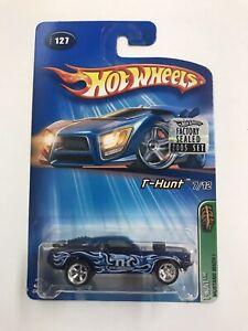 2005 Hot Wheels Treasure Hunt 1971 Mustang Mach 1 Black W/Blue flames RR NIP