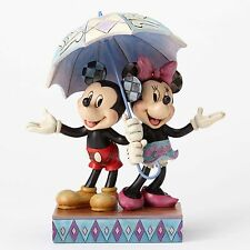 "Disney Jim Shore Figurine Mickey & Minnie  ""Rainy Day Romance""  NIB #4054280"