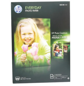 HP A4 White Everyday Glossy Photo Paper 200gsm (Pack of 100) Free 24h Delivery