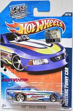 HOT WHEELS 2011 DRAG RACER MUSTANG FUNNY CAR BLUE FACTORY SEALED