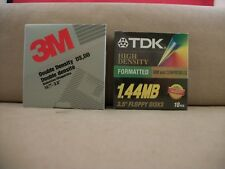 "20 New 3.5""  High Density Floppy Disks Diskettes - 10 3M and 10 TDK"