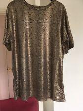 River Island Top Dress Tunic Size 12 New Metallic Snakeskin Design Fabric £25.00