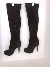 Top Shop Chocolate Brown Over The Knee Boot 8 1/2